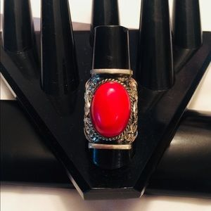Handmade coral Ring